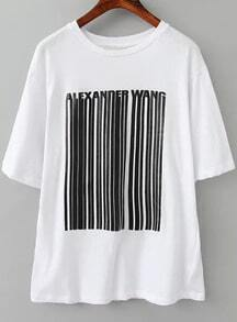 Vertical Striped Loose T-shirt