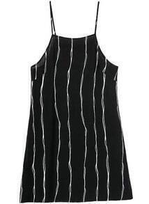 Spaghetti Strap Vertical Striped Dress