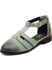 Green Slingbacks Brush Toe Sandals