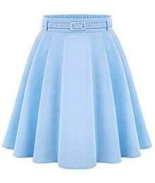 High Waist A-Line Skirt