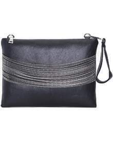 Black With Chain Clutch Bag