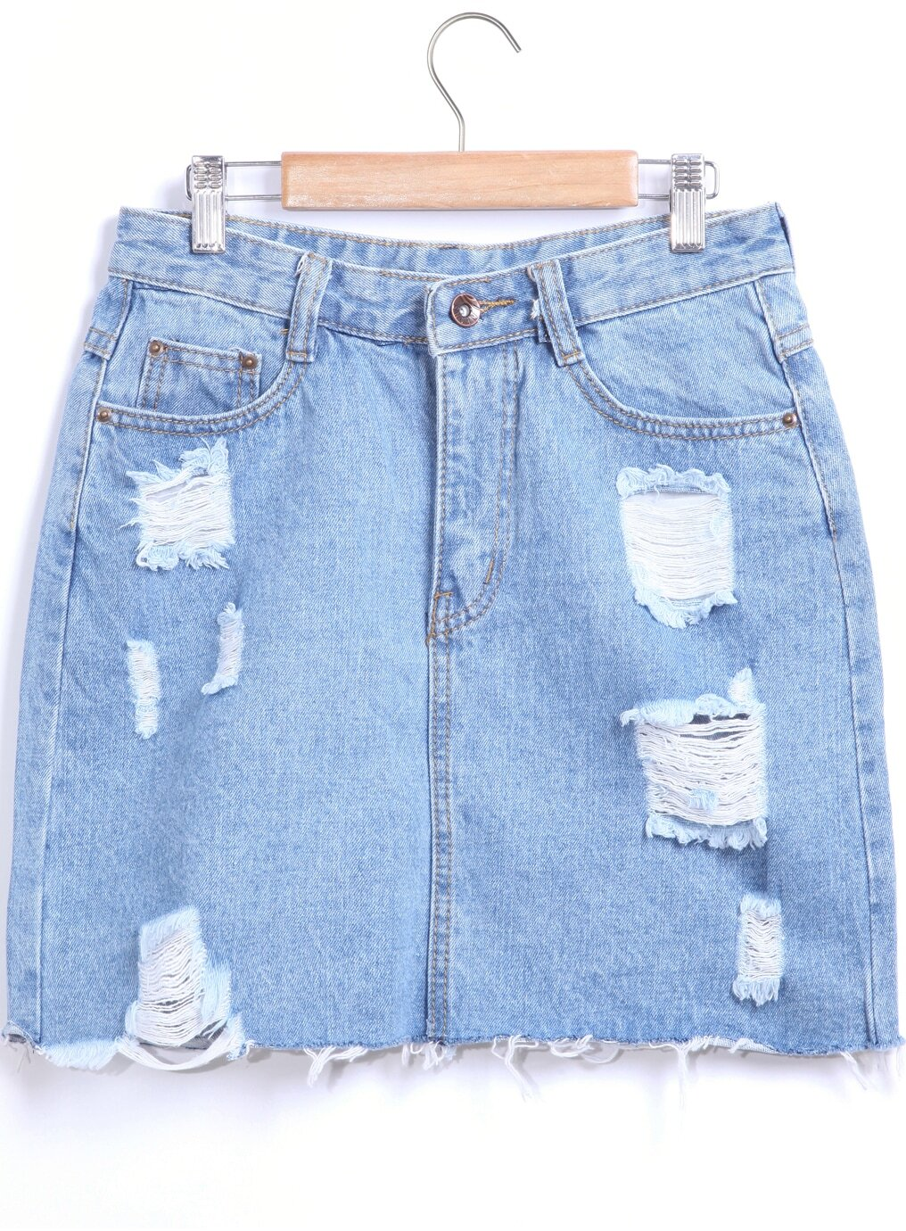 Ripped Jean Skirt - Is Jeans