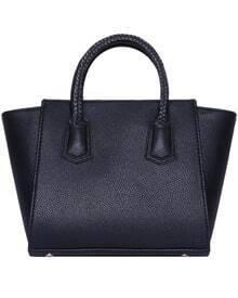 Black Zipper Tote Bag