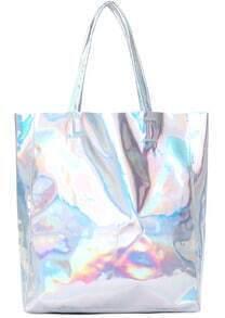 Silver PU Shoulder Bag