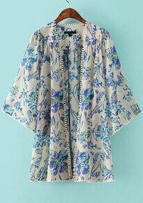 Florals Chiffon Loose Kimono