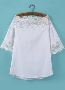 Boat Neck Lace Insert Top