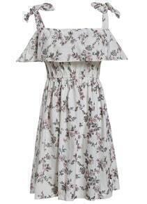Spaghetti Strap Flower Print Dress