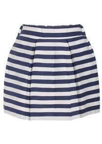 High Waist Striped Flare Skirt