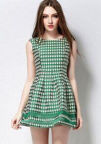 Heart Print Flare Sun Dress