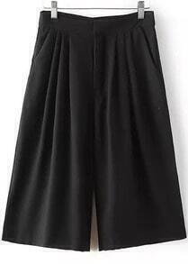 Black Loose Wide Leg Pant