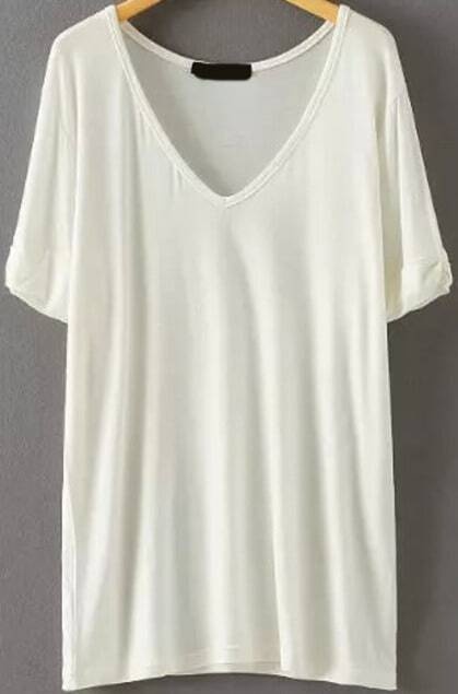 camiseta pico relax fit-blanco