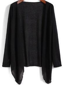 Long Sleeve Black Kimono