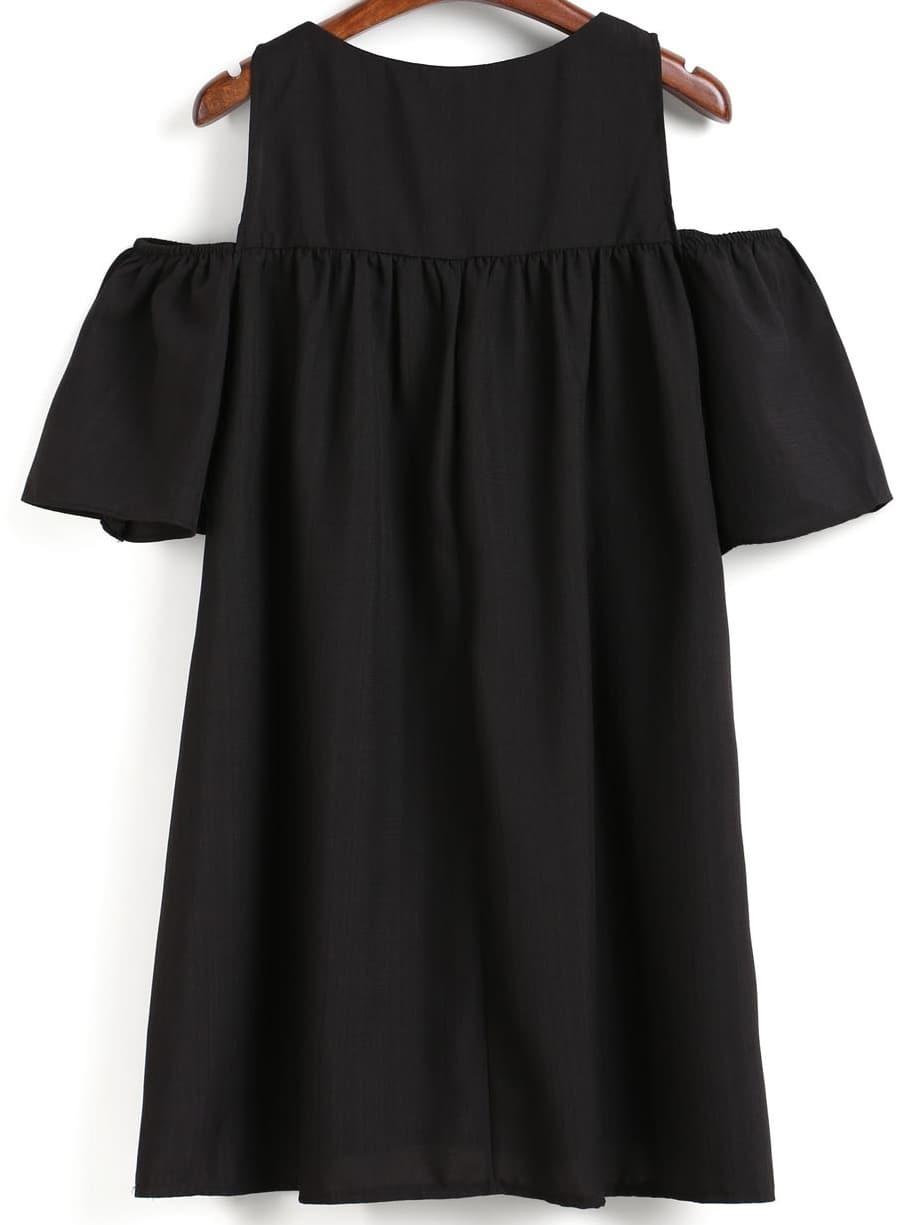 robe droite epaule denudee noir french romwe With acheter une robe