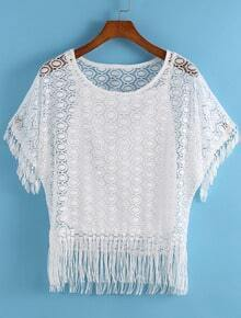 With Tassel Lace Loose Top