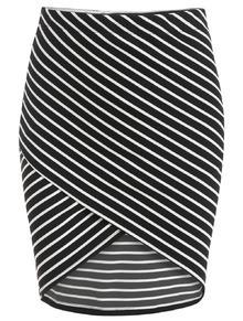 Striped Asymmetrical Wraped Skirt