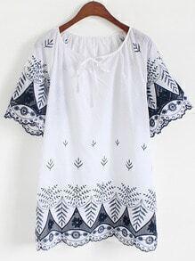 Vintage Embroidered Shift Dress