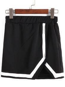 Contrast Edge Asymmetrical Shorts