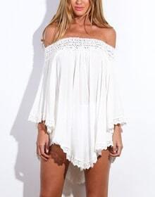 Off The Shoulder Loose White Dress