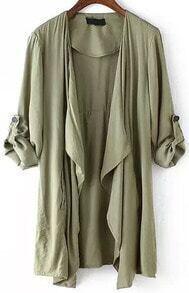 Long Sleeve Asymmetrical Coat