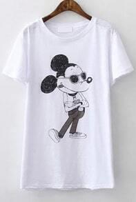 Mickey Print Loose T-shirt