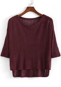 Dip Hem Knit Top