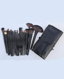 24pcs Professional Cosmetic Makeup Brush Set Kit with PU Leather Case
