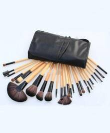 24pcs Professional Cosmetic Makeup Brush Set with Balck Bag