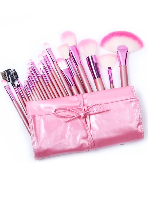 Pink Makeup Brushes: 22pcs Pink Makeup Brush Set