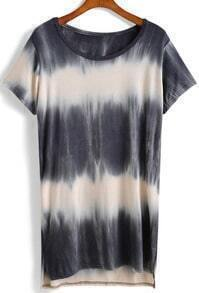 Tie-dye Side Split T-shirt