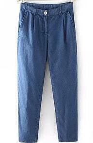 With Pockets Denim Loose Pant