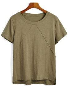 Dip Hem Army Green T-shirt