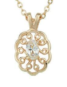 Fashion Style Gold Plated Beautiful Small Pendant Necklace