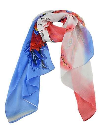2015 New Fashion Flower Pinted Fashionable Scarf