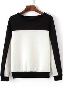 Round Neck Color-block Sweatshirt