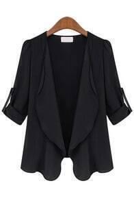 Long Sleeve Slim Black Coat