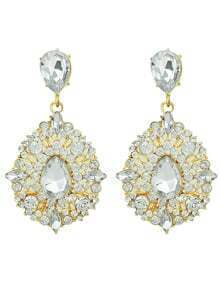 Elegant Style Colored Rhinestone Earrings For Women