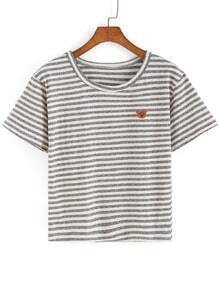 Striped Bear Patch T-shirt