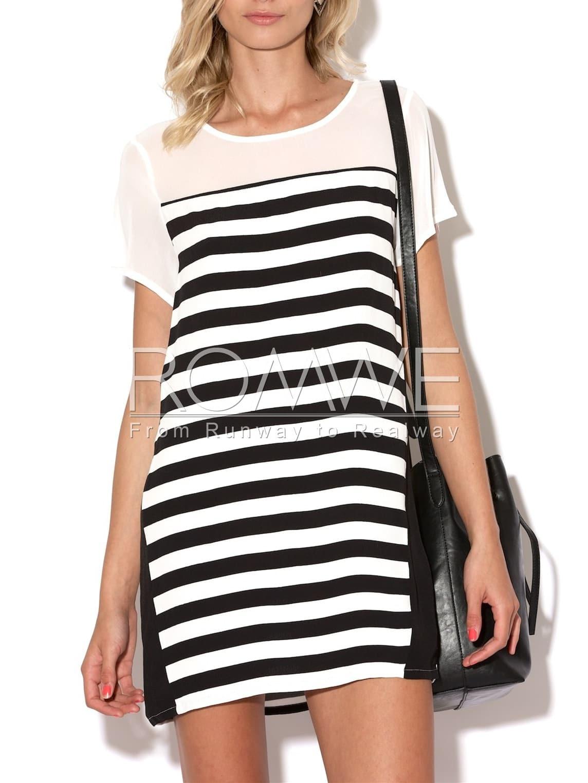 White Black Short Sleeve