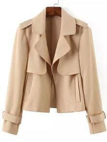 Lapel With Pockets Nude Jacket
