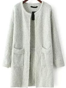 With Pockets Loose Green Cardigan