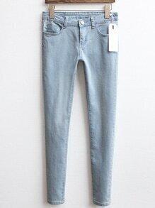 With Pockets Denim Slim Pant