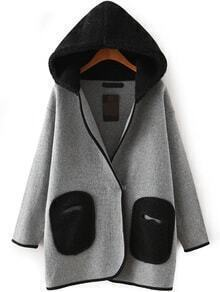 Kapuzen-Mantel mit Taschen