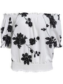 Boat Neck Embroidered Top