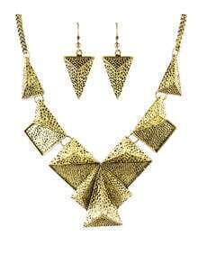Atgold Vintage Style Geometric Shaped Fashion Jewelry Set