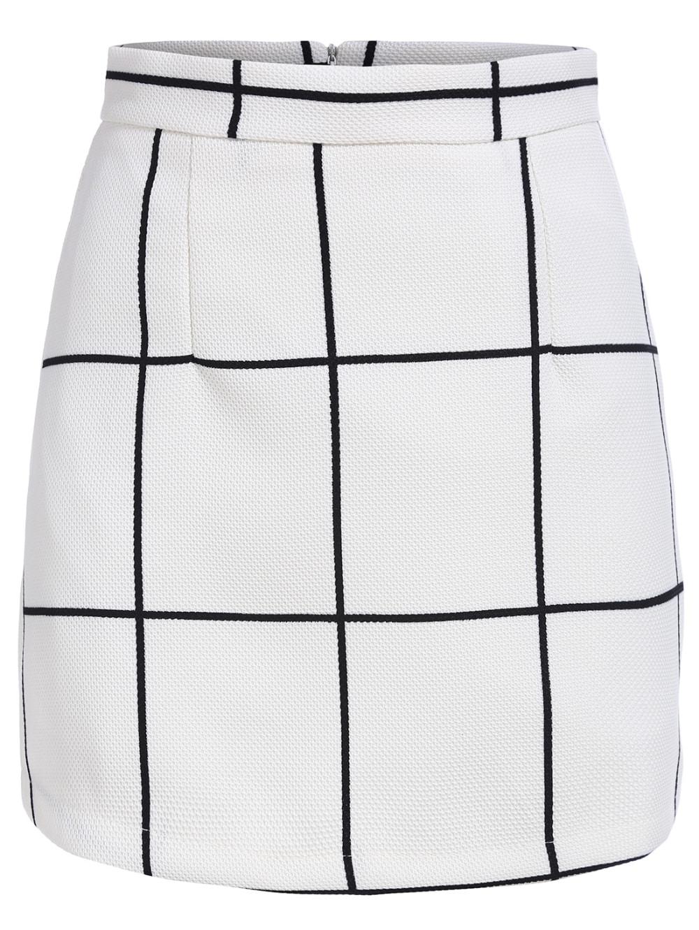 White Plaid Skirt