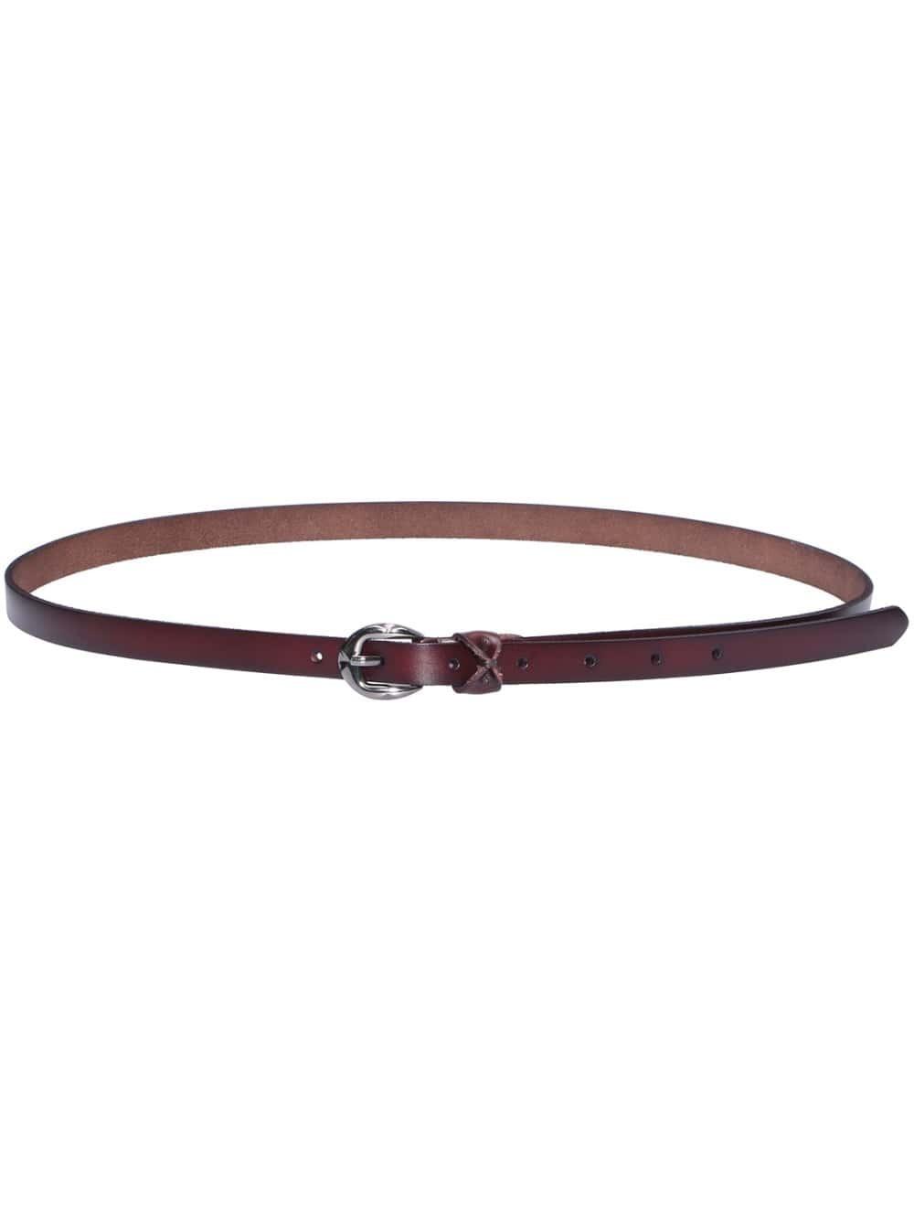 brown buckle bow belt