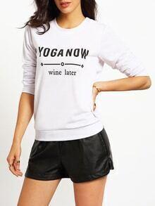 Letter Print Loose Sweatshirt