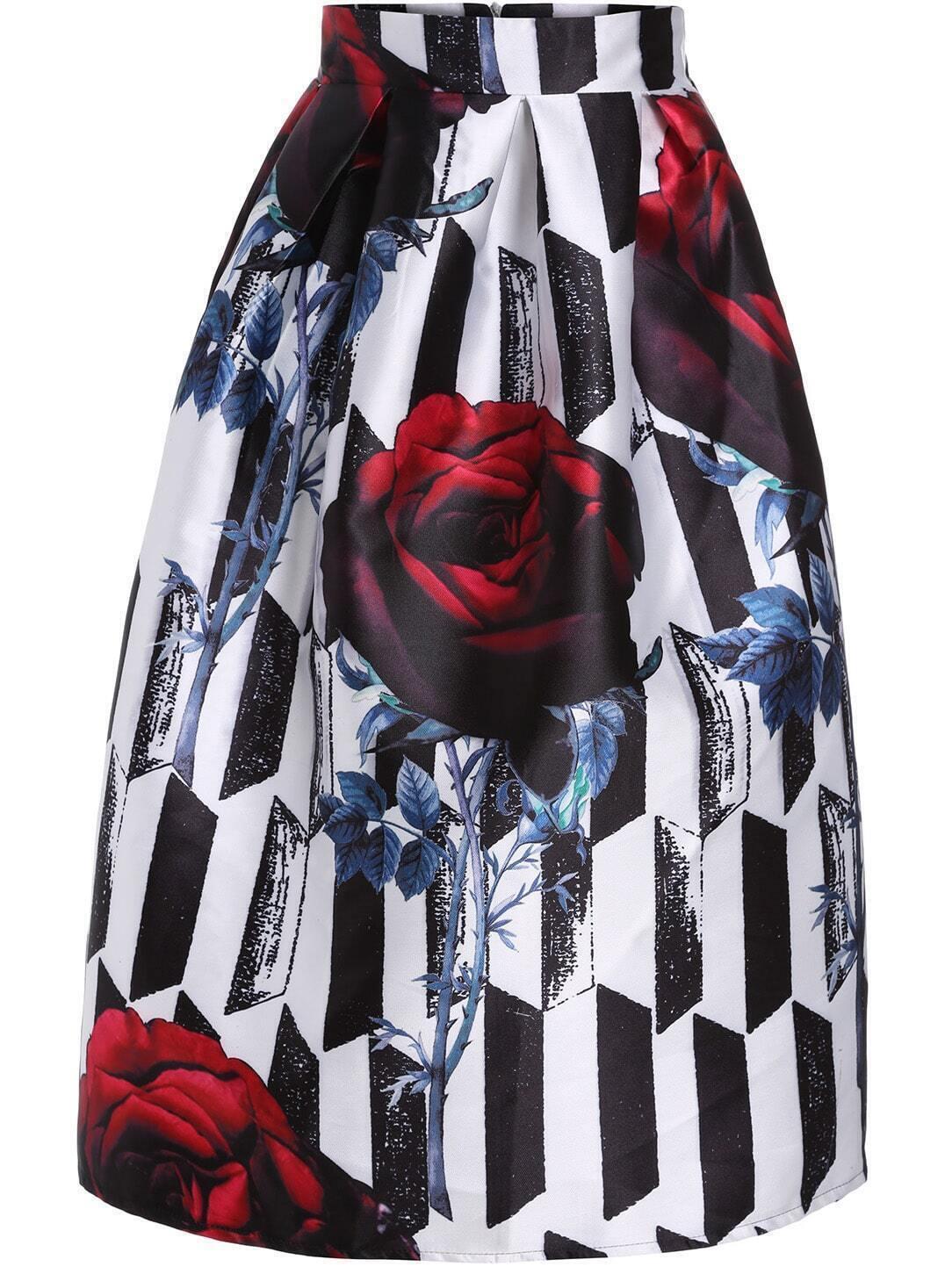 Rose Print Skirt 28