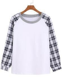 Raglan Sleeve Plaid T-shirt