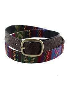 Fashion Ethnic Style Colorful Imitation Leather Women Waist Belt